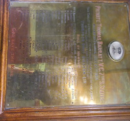 barratt memorial plaque