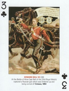 bell e w d playing card