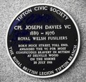 tipton blue plaque