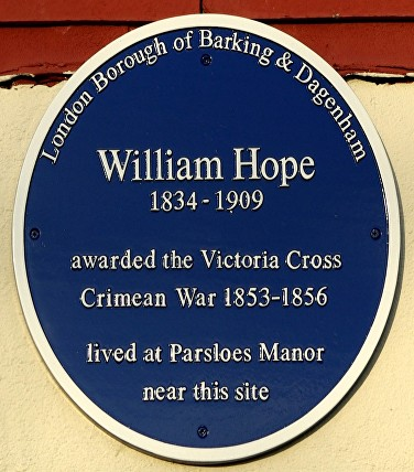 barking blue plaque