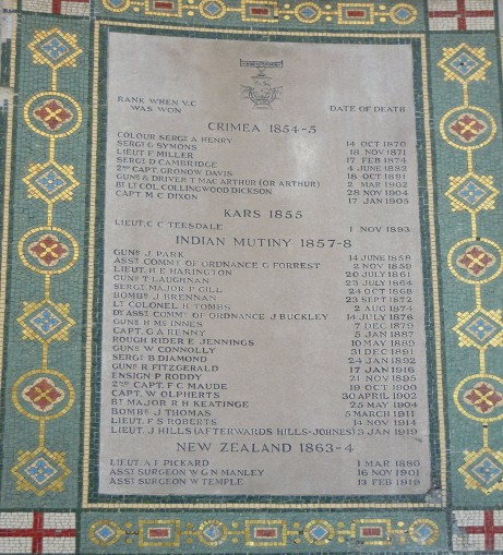 ROYAL ARTILLERY CHAPEL PLAQUE