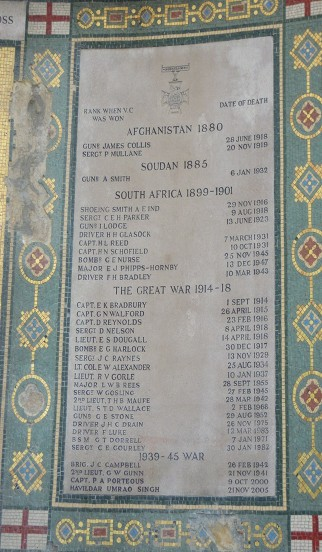 ROYAL ARTILLERY CHAPEL PLAQUE 2