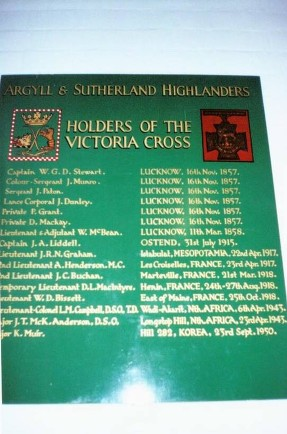 ARGYLL AND SUTHERLAND HIGHLANDERS R OF H