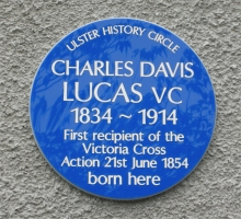 lucas blue plaque
