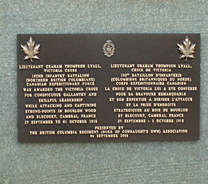 bourlon memorial plaque