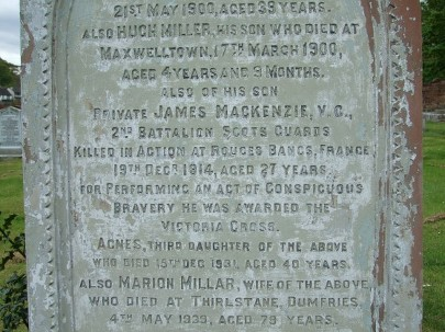 FAMILY GRAVE AT TROQUEER PARISH CHURCH