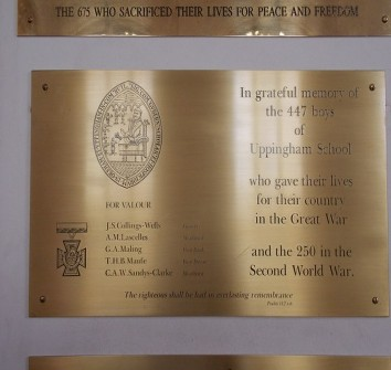 UPPINGHAM SCHOOL MEMORIAL