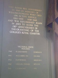 wellington college memorial