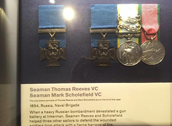 scholefield medals on display