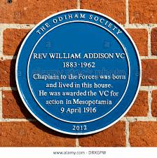 addison w blue plaque