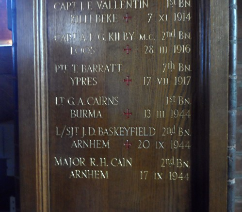 barratt regimental chapel memorial