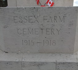 essex farm cemetery sign