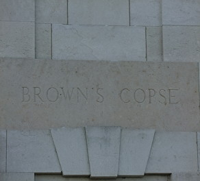 browns copse sign