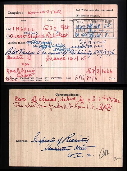 insall medal card