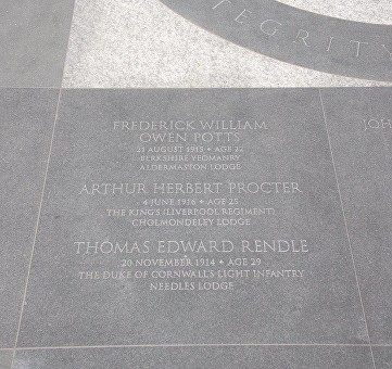 potts proctor rendle freemason memorial