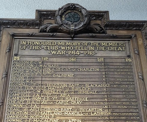 brodie club memorial edinburgh