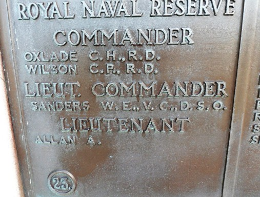 sanders w plymouth naval memorial rt