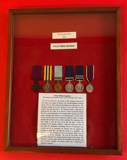 speakman kosb museum medals as