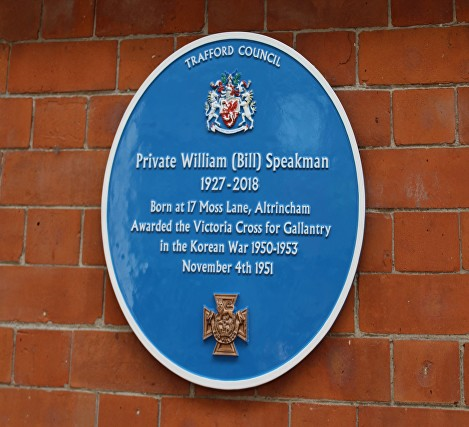 SPEAKMAN VC PLAQUE ALTRINCHAM INTERCHANGE PL