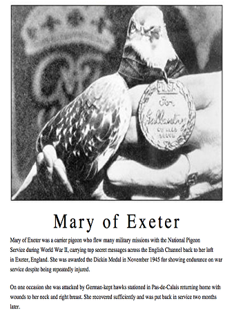 MARY OF EXETER WITH MEDAL