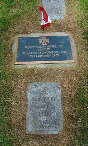 Kerr, J. VC  (new marker 2015) Mountian View Cem. Vancouver BC. (buired with son Abray) Sec. Block 5 Plot 6 Lot 9
